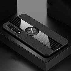 Silikon Hülle Handyhülle Ultra Dünn Schutzhülle 360 Grad Tasche für Huawei Nova 6 5G Schwarz