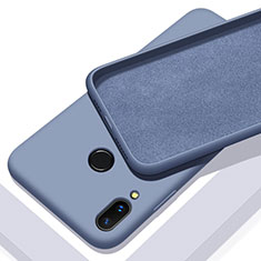 Silikon Hülle Handyhülle Ultra Dünn Schutzhülle 360 Grad Tasche für Huawei P Smart+ Plus Blau