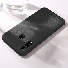Silikon Hülle Handyhülle Ultra Dünn Schutzhülle 360 Grad Tasche für Huawei P30 Lite Schwarz
