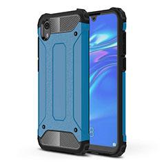 Silikon Hülle Handyhülle Ultra Dünn Schutzhülle 360 Grad Tasche für Huawei Y5 (2019) Blau