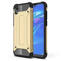 Silikon Hülle Handyhülle Ultra Dünn Schutzhülle 360 Grad Tasche für Huawei Y5 (2019) Gold