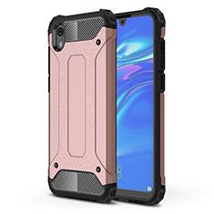 Silikon Hülle Handyhülle Ultra Dünn Schutzhülle 360 Grad Tasche für Huawei Y5 (2019) Rosegold