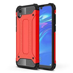 Silikon Hülle Handyhülle Ultra Dünn Schutzhülle 360 Grad Tasche für Huawei Y5 (2019) Rot
