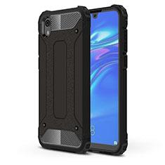 Silikon Hülle Handyhülle Ultra Dünn Schutzhülle 360 Grad Tasche für Huawei Y5 (2019) Schwarz