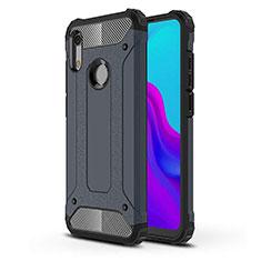 Silikon Hülle Handyhülle Ultra Dünn Schutzhülle 360 Grad Tasche für Huawei Y6 (2019) Blau