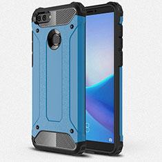 Silikon Hülle Handyhülle Ultra Dünn Schutzhülle 360 Grad Tasche für Huawei Y9 (2018) Blau