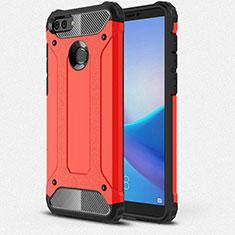 Silikon Hülle Handyhülle Ultra Dünn Schutzhülle 360 Grad Tasche für Huawei Y9 (2018) Rot