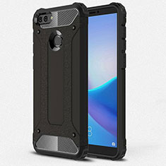 Silikon Hülle Handyhülle Ultra Dünn Schutzhülle 360 Grad Tasche für Huawei Y9 (2018) Schwarz
