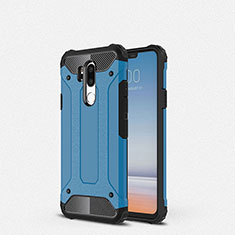 Silikon Hülle Handyhülle Ultra Dünn Schutzhülle 360 Grad Tasche für LG G7 Blau
