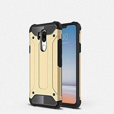 Silikon Hülle Handyhülle Ultra Dünn Schutzhülle 360 Grad Tasche für LG G7 Gold