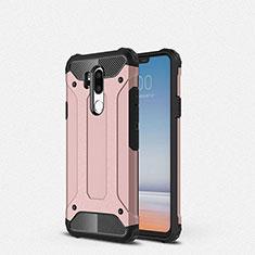 Silikon Hülle Handyhülle Ultra Dünn Schutzhülle 360 Grad Tasche für LG G7 Rosegold