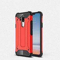 Silikon Hülle Handyhülle Ultra Dünn Schutzhülle 360 Grad Tasche für LG G7 Rot