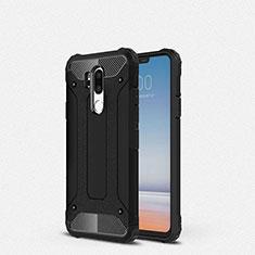 Silikon Hülle Handyhülle Ultra Dünn Schutzhülle 360 Grad Tasche für LG G7 Schwarz