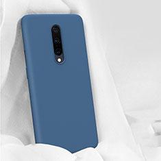 Silikon Hülle Handyhülle Ultra Dünn Schutzhülle 360 Grad Tasche für OnePlus 7 Pro Blau