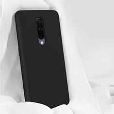 Silikon Hülle Handyhülle Ultra Dünn Schutzhülle 360 Grad Tasche für OnePlus 7 Pro Schwarz