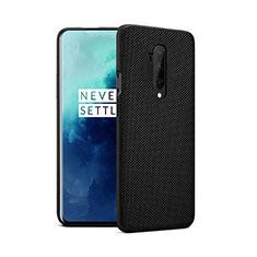 Silikon Hülle Handyhülle Ultra Dünn Schutzhülle 360 Grad Tasche für OnePlus 7T Pro Schwarz