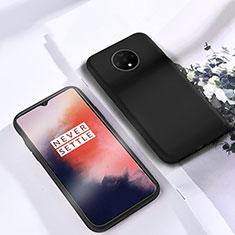 Silikon Hülle Handyhülle Ultra Dünn Schutzhülle 360 Grad Tasche für OnePlus 7T Schwarz
