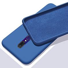 Silikon Hülle Handyhülle Ultra Dünn Schutzhülle 360 Grad Tasche für Oppo A9X Blau