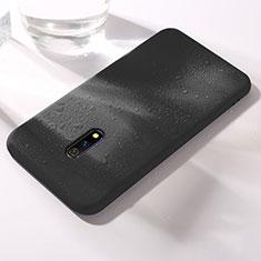 Silikon Hülle Handyhülle Ultra Dünn Schutzhülle 360 Grad Tasche für Oppo Realme X Schwarz