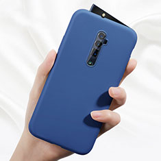 Silikon Hülle Handyhülle Ultra Dünn Schutzhülle 360 Grad Tasche für Oppo Reno 10X Zoom Blau