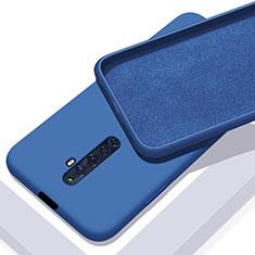 Silikon Hülle Handyhülle Ultra Dünn Schutzhülle 360 Grad Tasche für Oppo Reno2 Z Blau