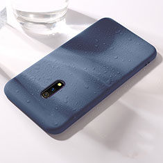 Silikon Hülle Handyhülle Ultra Dünn Schutzhülle 360 Grad Tasche für Realme X Blau