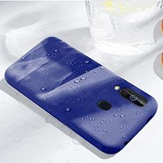 Silikon Hülle Handyhülle Ultra Dünn Schutzhülle 360 Grad Tasche für Samsung Galaxy A60 Blau