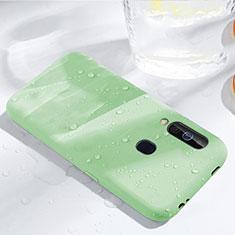 Silikon Hülle Handyhülle Ultra Dünn Schutzhülle 360 Grad Tasche für Samsung Galaxy A60 Grün