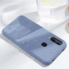 Silikon Hülle Handyhülle Ultra Dünn Schutzhülle 360 Grad Tasche für Samsung Galaxy A60 Hellblau