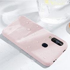 Silikon Hülle Handyhülle Ultra Dünn Schutzhülle 360 Grad Tasche für Samsung Galaxy A60 Rosegold