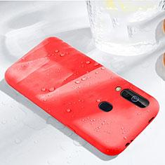Silikon Hülle Handyhülle Ultra Dünn Schutzhülle 360 Grad Tasche für Samsung Galaxy A60 Rot