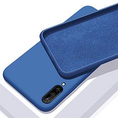 Silikon Hülle Handyhülle Ultra Dünn Schutzhülle 360 Grad Tasche für Samsung Galaxy A70 Blau