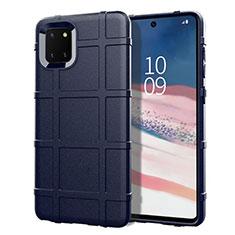 Silikon Hülle Handyhülle Ultra Dünn Schutzhülle 360 Grad Tasche für Samsung Galaxy A81 Blau