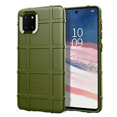 Silikon Hülle Handyhülle Ultra Dünn Schutzhülle 360 Grad Tasche für Samsung Galaxy A81 Grün