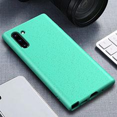 Silikon Hülle Handyhülle Ultra Dünn Schutzhülle 360 Grad Tasche für Samsung Galaxy Note 10 Cyan