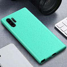 Silikon Hülle Handyhülle Ultra Dünn Schutzhülle 360 Grad Tasche für Samsung Galaxy Note 10 Plus Cyan