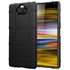Silikon Hülle Handyhülle Ultra Dünn Schutzhülle 360 Grad Tasche für Sony Xperia 10 Plus Schwarz