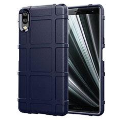 Silikon Hülle Handyhülle Ultra Dünn Schutzhülle 360 Grad Tasche für Sony Xperia L3 Blau