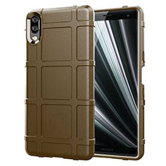 Silikon Hülle Handyhülle Ultra Dünn Schutzhülle 360 Grad Tasche für Sony Xperia L3 Braun