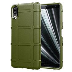 Silikon Hülle Handyhülle Ultra Dünn Schutzhülle 360 Grad Tasche für Sony Xperia L3 Grün