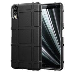 Silikon Hülle Handyhülle Ultra Dünn Schutzhülle 360 Grad Tasche für Sony Xperia L3 Schwarz