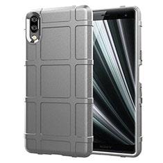 Silikon Hülle Handyhülle Ultra Dünn Schutzhülle 360 Grad Tasche für Sony Xperia L3 Silber