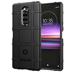 Silikon Hülle Handyhülle Ultra Dünn Schutzhülle 360 Grad Tasche für Sony Xperia XZ4 Schwarz