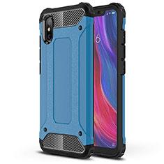 Silikon Hülle Handyhülle Ultra Dünn Schutzhülle 360 Grad Tasche für Xiaomi Mi 8 Pro Global Version Blau