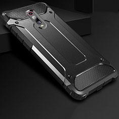 Silikon Hülle Handyhülle Ultra Dünn Schutzhülle 360 Grad Tasche für Xiaomi Mi 9T Pro Schwarz