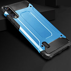Silikon Hülle Handyhülle Ultra Dünn Schutzhülle 360 Grad Tasche für Xiaomi Mi A3 Blau