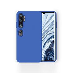 Silikon Hülle Handyhülle Ultra Dünn Schutzhülle 360 Grad Tasche für Xiaomi Mi Note 10 Pro Blau