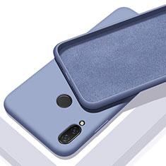 Silikon Hülle Handyhülle Ultra Dünn Schutzhülle 360 Grad Tasche für Xiaomi Redmi 7 Hellblau