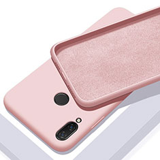 Silikon Hülle Handyhülle Ultra Dünn Schutzhülle 360 Grad Tasche für Xiaomi Redmi 7 Rosegold