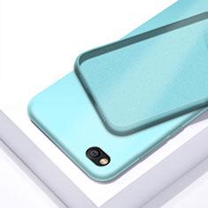 Silikon Hülle Handyhülle Ultra Dünn Schutzhülle 360 Grad Tasche für Xiaomi Redmi Go Cyan